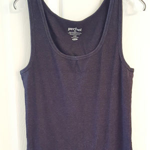 OLD NAVY Perfect Tank Top Black Large